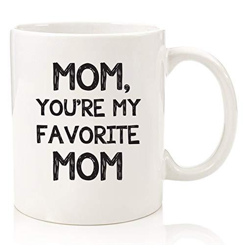 Mamá, eres mi taza de café divertida favorita Los mejores regalos de Navidad Regalos geniales de Navidad para mamá