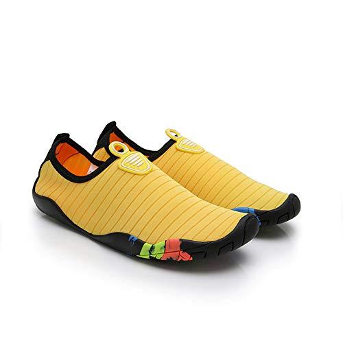 Women Men Barefoot Treadmill Running Shoes Water Sport Sneakers Yellow