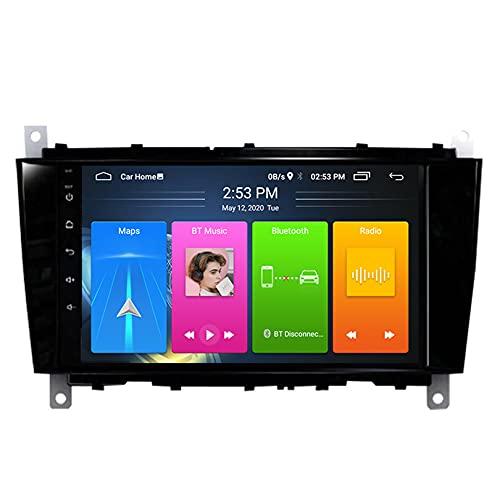 ADMLZQQ Android Car Radio para Benz C-Classe W203 (2004-2007) CLC G Classe W467 (2008-2011) GPS NavegacióN 8 Pulgadas Soporte WiFi/FM/SWC/BT + CáMara Trasera,WiFi 2+32