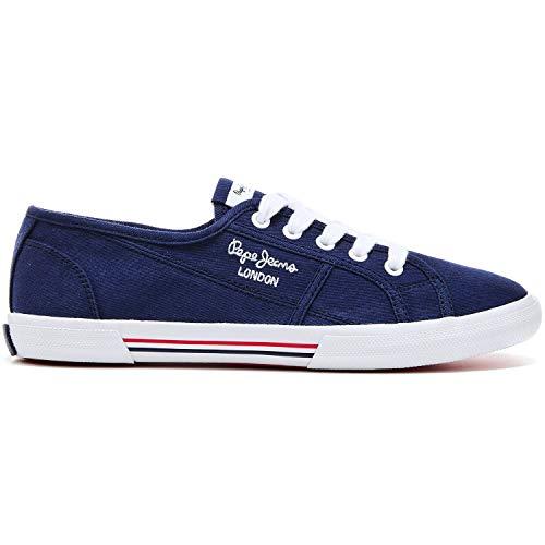 Pepe Jeans Aberlady Ecobass, Zapatillas Mujer, Azul Marino, 38 EU