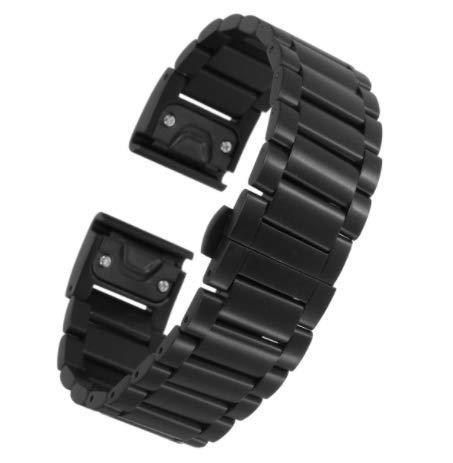 TENGGO Reemplazo De Acero De Titanio Pulsera Correa De Muñeca Reloj con Destornillador para Garmin Fenix 5