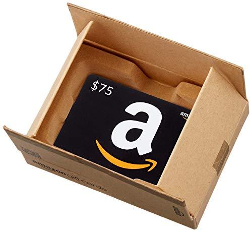 Amazon.ca $75 Gift Card in a Mini Amazon Shipping Box (Classic Black Card Design)