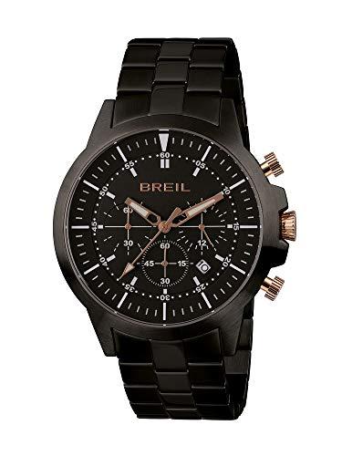 Uhr BREIL für Mann Modell X.Large mit stahlarmband, Chrono Quartz Bewegung
