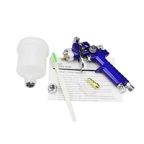0.8MM/1.0MM Nozzle H-2000 Professional HVLP Spray Gun Mini Air Paint Spray Guns Airbrush for Painting Car Aerograph (1mm)