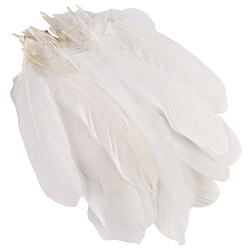 100pcs Blanc Plumes Artisanat Bricolage Décoration 15-20cm