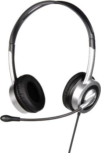 Speedlink Kalliope VX Kopfhörer mit Mikrofon und Kabelfernbedienung (USB, integrierte Soundkarte, Doppelsteg-Kopfband)