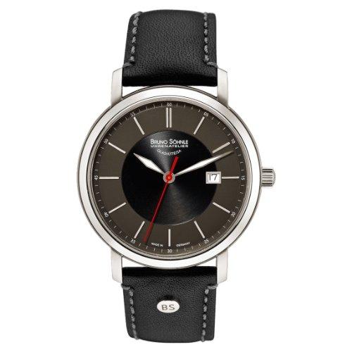 Bruno Söhnle Herren Analog Quarz Uhr mit Leder Armband 17-13138-741