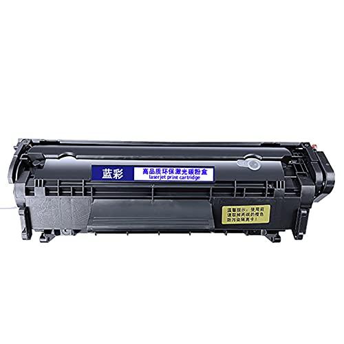 AZXC Reemplazo de Cartuchos de tóner Compatible para Q2612A, Trabajo de Alto Rendimiento con 3055MFP M1005 1018 1020PLUS 3050 12A Impresora, con Chip black-2000p