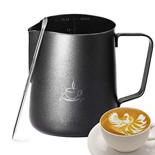 Milk Frothing Pitcher - Milk Frother Pitcher 、Milk Pitcher 、Milk Steaming Pitcher 、Espresso...