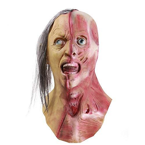 XWYZY Mscara de Halloween Halloween Zombia Mscara de ltex realista de terror, mscara de zombia, mscara de ltex de terror, mscaras de zombie, cosplay, fiesta