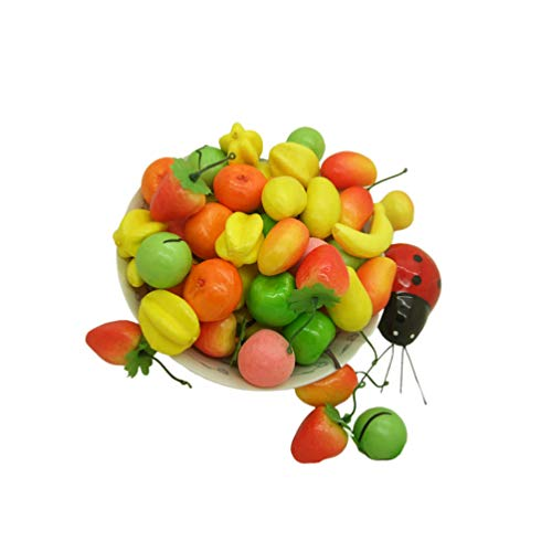 EXCEART 50Pcs Frutas Artificiales Frutas Falsas Realistas Realistas para Decoraciones de Mesa Caseras de Cocina
