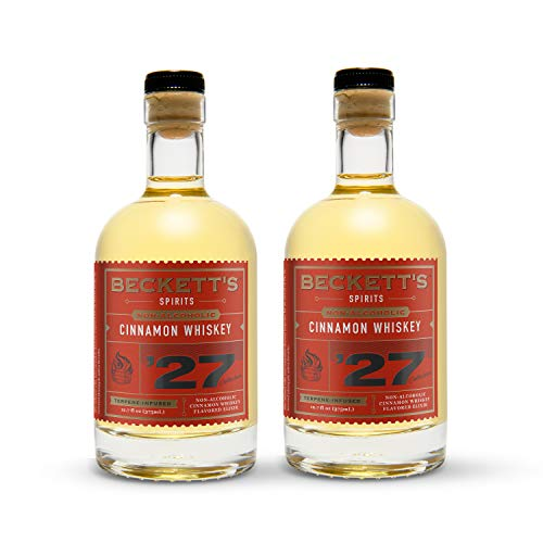 Beckett's '27 | CINNAMON WHISKEY | Non-Alcoholic Spirits for Cocktails & Mocktails | Distilled Botanicals | Gluten-Free NA Liquor | 375 ml Bottle (Pack of 2)