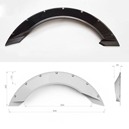 JDM Universal fender flares'Crystal' 4pcs +2.inch (50mm) Over Fender Flares Wheel Arch Extensions Wide Body Set