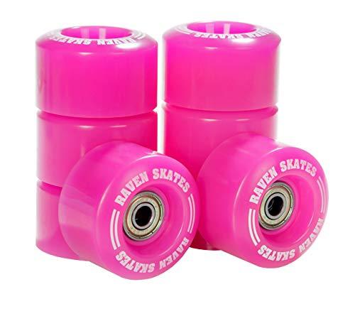 RAVEN Rollen für Rollschuhe mit Kugellager Abec7 (8X Pink)