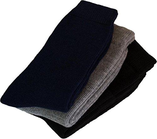 Preisvergleich Produktbild 3 Paar Super Warme Thermo Polar Husky Socken! Vollplsch / Perfekt geeignet fr Stiefel Gre 39 / 42 Farbe Schwarz / Grau / Blau Schwarz / Grau / Blau
