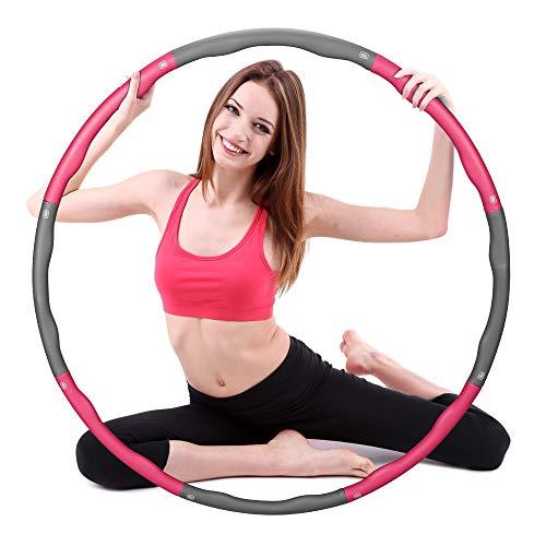 Molbory Hula Hoop-Serie, 8 Abschnitte des abnehmbaren Hula-Hoop können das Gewicht anpassen, Hoola-Hoop Reifen Geeignet Für Fitness, Sport, Bauchformung, Erwachsene und Kinder