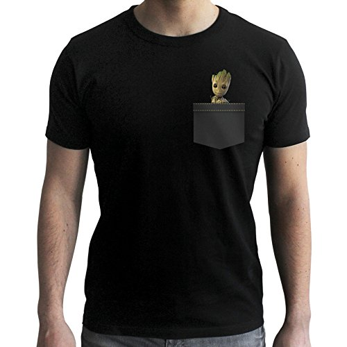 ABYstyle - Marvel - Tshirt Pocket Groot Homme Black (M)