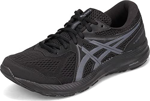 ASICS Men's Gel-Contend 7 Running Shoes, 11, Black/Carrier Grey
