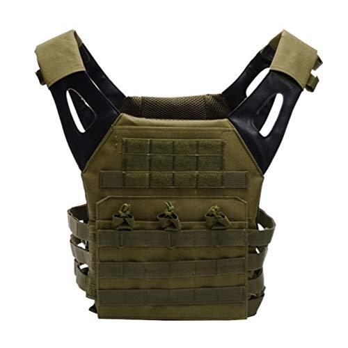 Xinwcang Chalecos Tácticos, Táctico Militar Chaleco Combate Asalto Militar CS Game Cosplay Camuflaje Chaleco para Adultos Viaje Hiking Vest Verde One Size