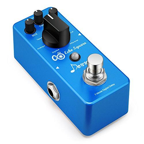 Donner Digital Delay Pedal Echo Square Gitarre Effektpedal 7 Modi
