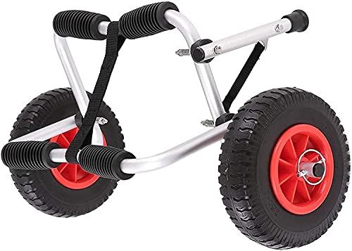 LVLUOKJ Carro Plegable para Kayak, Carro para Canoa, Transporte de Remolque con Plataforma rodante de Aluminio con 2 Ruedas, Capacidad de Carga de 80 kg