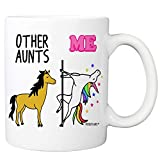 Other Aunts Me Unicorn Coffee Mug - 11oz Cup for Auntie, Sister, Favorite Aunticorn from Niece,...