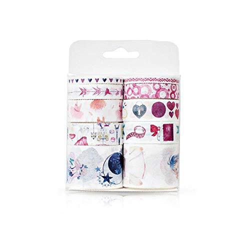 Keleily Nastro Washi, 10 Rotoli di Nastro Adesivo colorato Washi colorato, Nastro Adesivo Decorativo Carino, Collezione per hobbisti, Carte, Scrapbooking, Tema di Arti-Ragazza Fai-da-Te