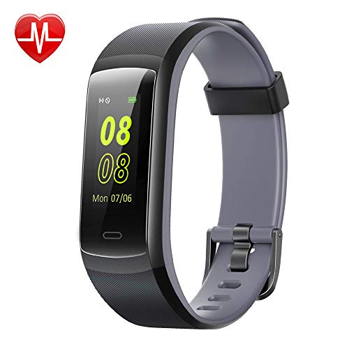 Willful Fitness Tracker, Heart Rate Monitor Activity Tracker Pedometer with Step Counter Sleep Monitor 14 Sports Tracking,Color Screen IP68 Waterproof,Fitness Watch for Men Women Kids (Black/Gray)