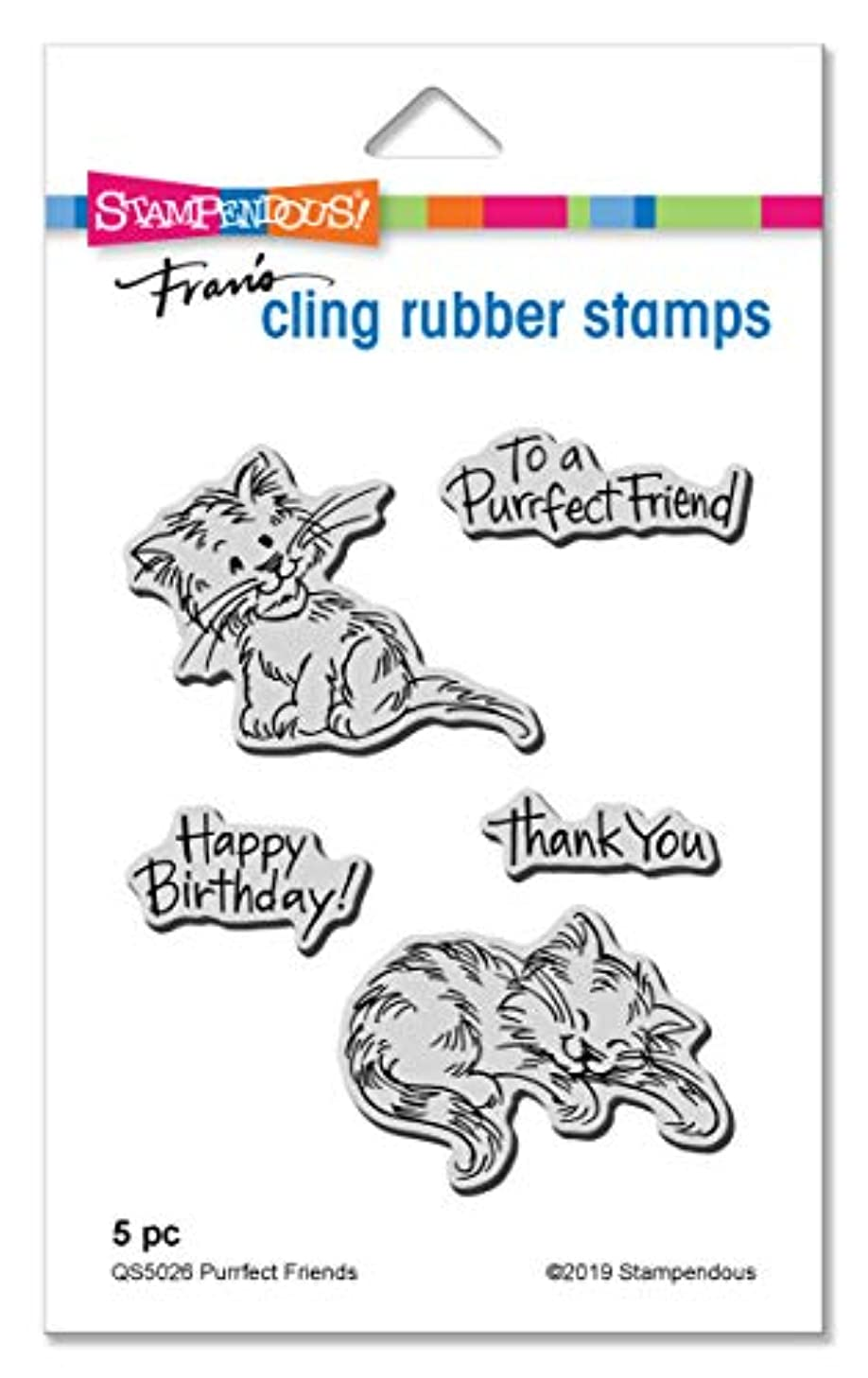 Stampendous QS5026 Purrfect Friends Cling Stamp Set