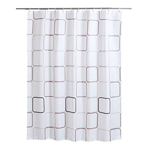 shaneundshaina Klassische Block lang groß größe wasserdicht duschvorhang hängen Vorhang (Klassische Block, höhe:230cm/90.55in;breite:200cm/78.74in)
