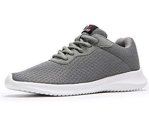 MAITRIP Walking Shoes for Women Dark Grey Gray Tennis Walking Gym Workout Athletic Sport Lightweight Breathable mesh Anti Non Slip Work Tenis Sneakers Size 8
