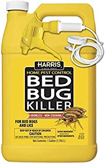 HARRIS Bed Bug Killer, Liquid Spray with Odorless and Non-Staining Extended Residual Kill Formula (Gallon) USA