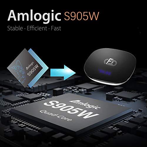Sofobod TV Box Android 8.1 Smart TV Box 2GB RAM+16GB ROM 4K TV S905W Quad Core H.265 Decoding 2.4GHz WiFi HDMI BT4.1 - Model No.: A95X F1 (EINWEG)
