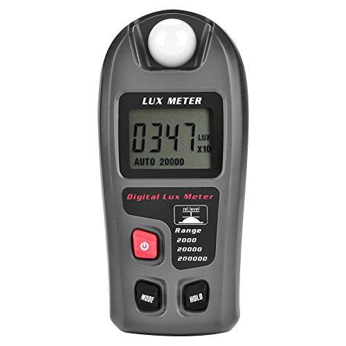 Asixx Medidor de Luz, Mt-30 LuxóMetro Digital Pantalla LCD Medidor de Luz Pruebas Ambientales Iluminómetro Digital Luminómetro para Fábrica, Oficina, Hogar, Etc