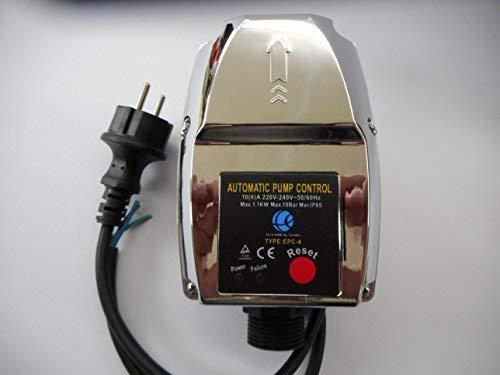 Tazado Garden-Line EPC-4 Pompbesturing, met aansluitkabel. Start/stopt de pomp bij het uitnemen van water van het verbruikpunt. - Droogloopbeveiliging met manometer 0-12 bar.