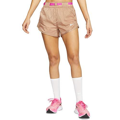 Nike Icon Clash Women's Running Shorts Desert Dust/Fire Pink/White CJ2429-283 Desert Dust/Fire Pink/White S