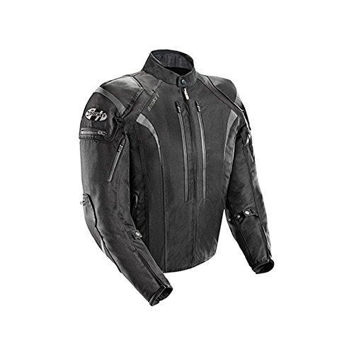 Joe Rocket Men's 5.0 Textile Motorcycle Jacket (Black, X-Large)
