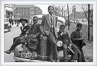 ポスター ラッセル リー Sunday Best (Chicago Boys 1941) 額装品 ウッドハイグレードフレーム(ホワイト)
