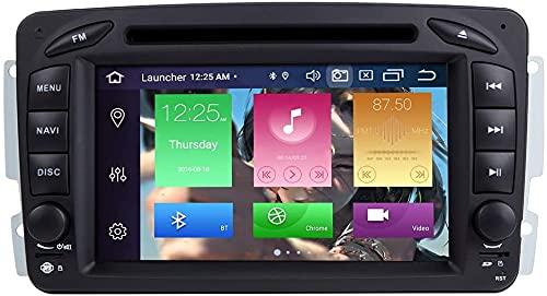 ZLTOOPAI Autoradio Stereo per Mercedes Benz W209 W203 W168 W163 W463 Viano W639 Vito Vaneo Android 10 Octa Core 4G RAM 64G ROM da 7 pollici IPS Doppio Din in Dash Navigazione GPS per auto Lettore DVD