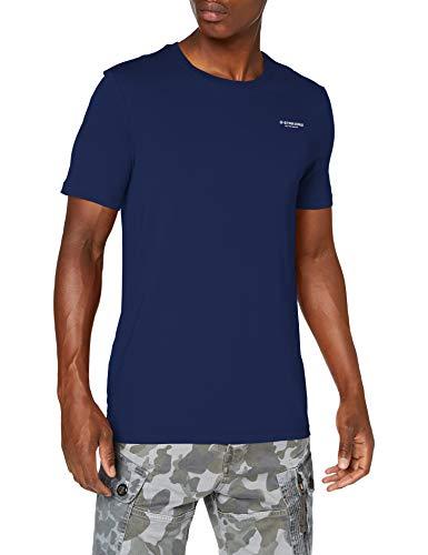 G-STAR RAW Text Slim Camiseta, Azul Imperial 336-1305, Medium para Hombre