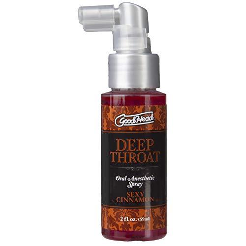 Doc Johnson GoodHead - Deep Throat Spray - Numbs Throat - Relaxes Gag Reflex - Sexy Cinnamon - 2 fl. oz.(59 ml)