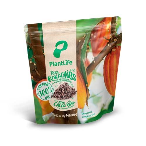 PlantLife Nibs de cacao BÍO 1kg – trocitos de granos de cacao criollo crudos y sin tostar de la selva tropical peruana - 100% reciclable