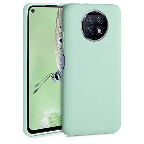 kwmobile Cover Compatibile con Xiaomi Redmi Note 9T - Cover Custodia in Silicone TPU - Backcover Protezione Posteriore- Menta Matt