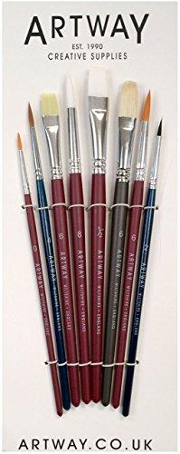 ideale per contorni Pennello da artista con setole di zibellino imitazione di rosso misura 4 Solo Goya pennelli per soddisfare le esigenze rotondo ottimo assorbimento dei colori