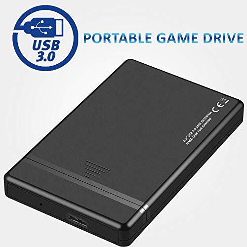 """Disco Duro Externo Para juegos de 2,5"""", Disco Duro Externo USB 3.0, Almacenamiento y Copia de Seguridad Para XBOX, PS4, PS3, Juegos de PC, Juegos Android, Smartphones, MAC y Muchos Más 500GB miniatura"""