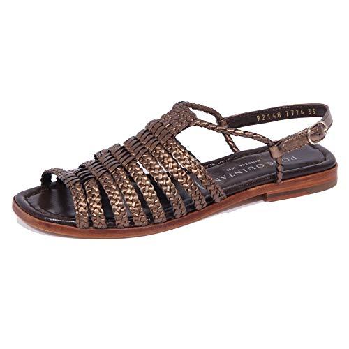 1972J Sandalo Donna Brown/Bronze PONS QUINTANA Emy Braided Shoe Woman