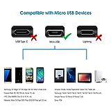 Rankie Câble Micro USB vers USB 2,0 Data et Sync, 1m, Lot de 3, Noir