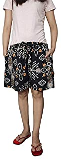 Ukal Female Printed Cotton Comfortable Shorts for Women and Girls for Sports, Yoga, Daily Use Gym, Evening, Night Wear, Casual Wear