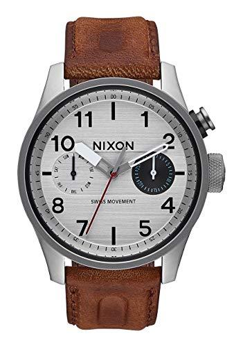 Nixon Herren Chronograph Quarz Uhr mit Leder Armband A977 1113-00