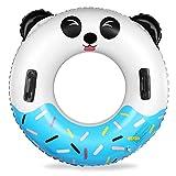 Miotlsy Anillo de Natación Inflable, Flotador Inflable para Piscina, Verano natación Anillos, Anillo de Natación para Fiesta Piscina de Playa Anillo Flotante Inflable 70Cm de Diámetro( Panda )